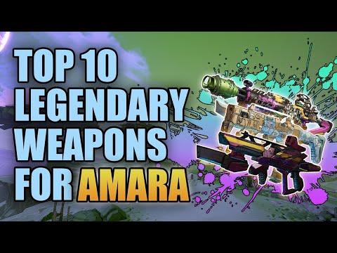 Borderlands 3   Top 10 Legendary Weapons for Amara (Updated)  Best Guns for Amara the Siren
