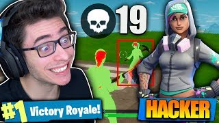 I HIT MY KILLS RECORD USING THE HACKER SKIN?! Fortnite: Bataille Royale
