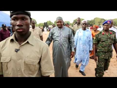 H E  PRESIDENT ADAMA BARROW FIRST MEETING IN SUKUTA AFTER INGURATION CHOICE AFRICA T V