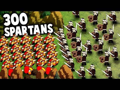 300 SPARTANS! NEW Battle Simulator Game!  (Thermopylae 300 Spartans in Hyper Knights: Battles)