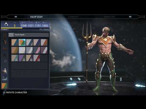 Injustice 2 Aquaman Equip Use Tidal Wave New Ability