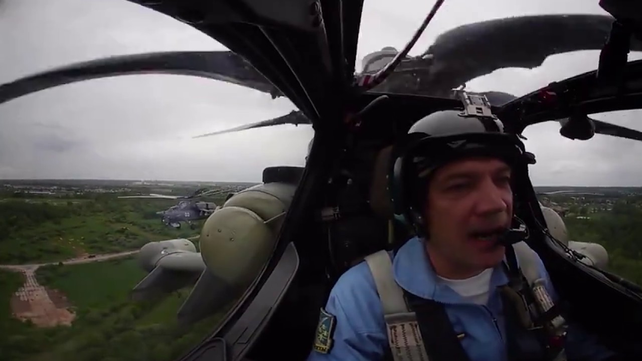 «Беркуты» 360°: Высший пилотаж легендарной группы на вертолетах Ми-28 «Ночной охотник»