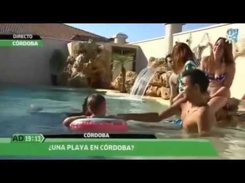 Piscina de arena con playa en c rdoba andaluc a directo youtube - Piscinas de arena natursand ...