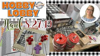 Hobby Lobby Haul 8.27.19 || Buffalo Check Decorating Suggestion