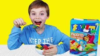 Lego breakfast chocolate cereal - 동요와 아이 노래 | 어린이 교육 | Polina Fun