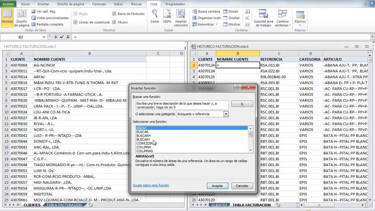 Excel, dos hojas en paralelo y BuscarV - YouTube