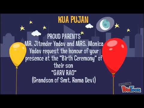 Kua Pujan E Invitation Youtube