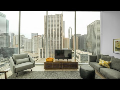 A 2-bedroom, 2-bath model at Streeterville