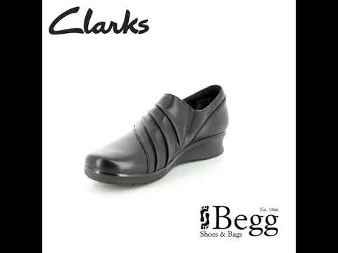 92c7179b6ec1 Clarks Hope Roxanne D Fit Black leather comfort shoes - YouTube