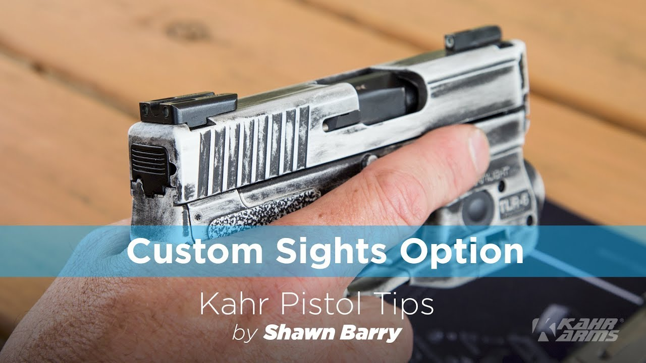 Kahr Cm9 Trijicon Front Sight