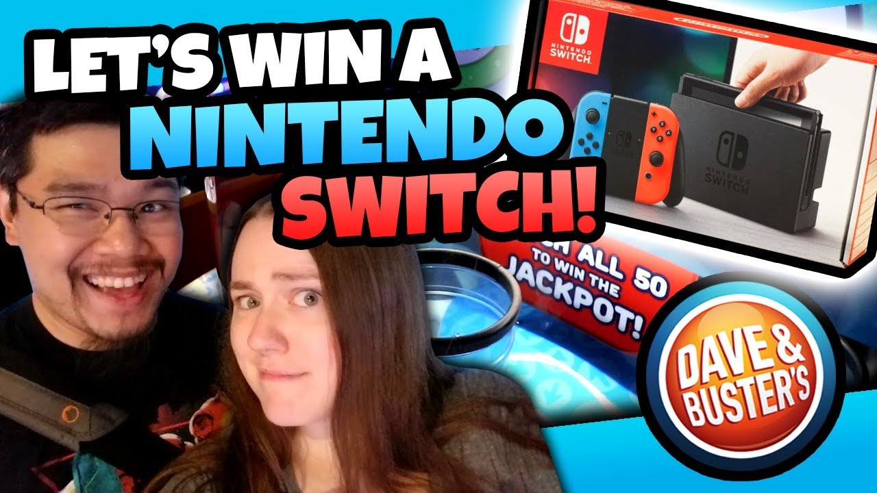Winning A Nintendo Switch With Tickets Dave And Busters