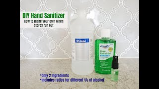 Diy hand sanitizer video tutorial - how to make your own alcohol based spray.