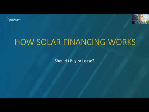 How Solar Financing Works