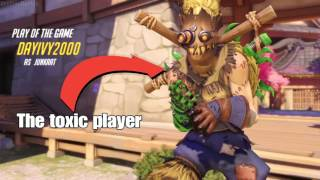 TOXIC PLAYER BLAMES EVERYONE BUT HIMSELF · Overwatch