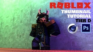 ROBLOX GFX TUTORIAL / THUMBNAIL / Cinema 4d Photoshop #8