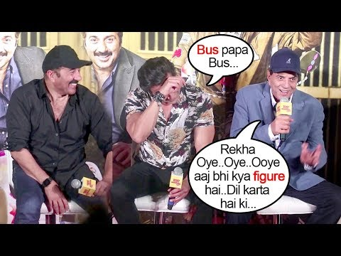 Bobby Deol Gets EMBARRASSED Of Dharmendra Talking DIRTY About Rekha In Front Of Media @YPD 3 Trailer