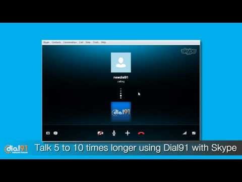 how to call dial91 from skype