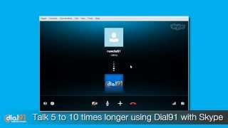 Use Skype to call mobile or land line phone - dial91.com