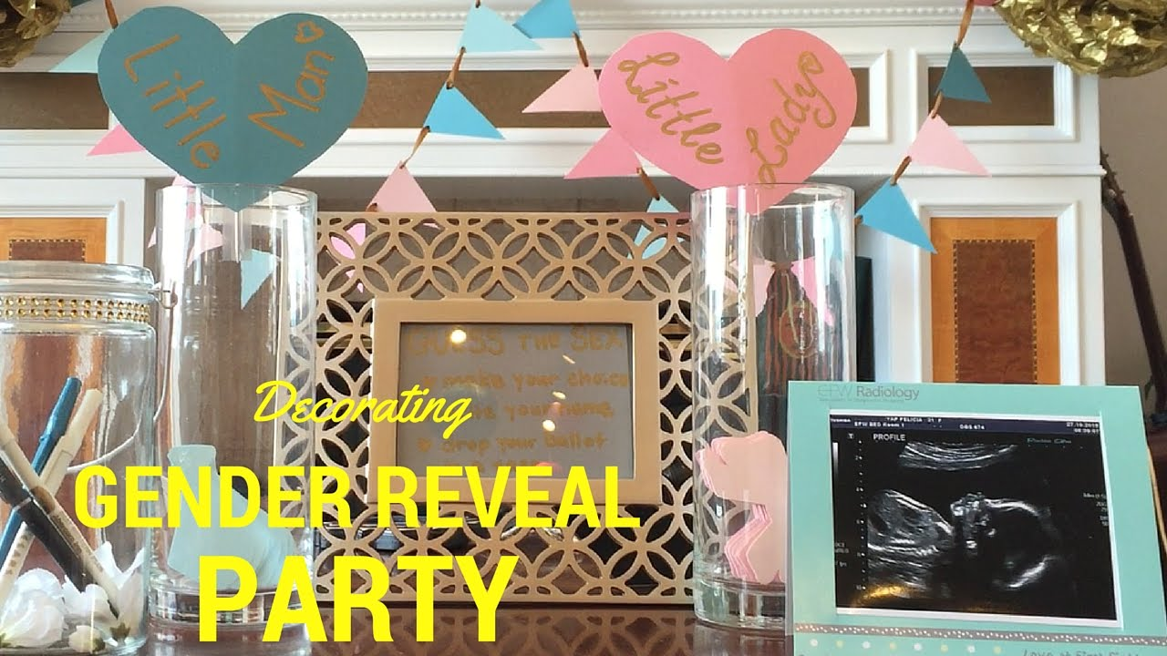 Diy Decorating Ideas For Gender Reveal Party Youtube
