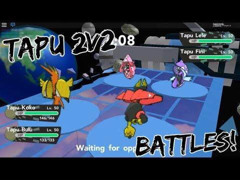 THE GUARDIAN DEITIES IN 2V2 BATTLES! (TAPUS) - Pokemon Brick Bronze