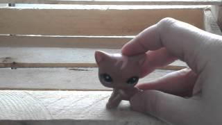Кошка коричневая стоячая с зелеными глазами