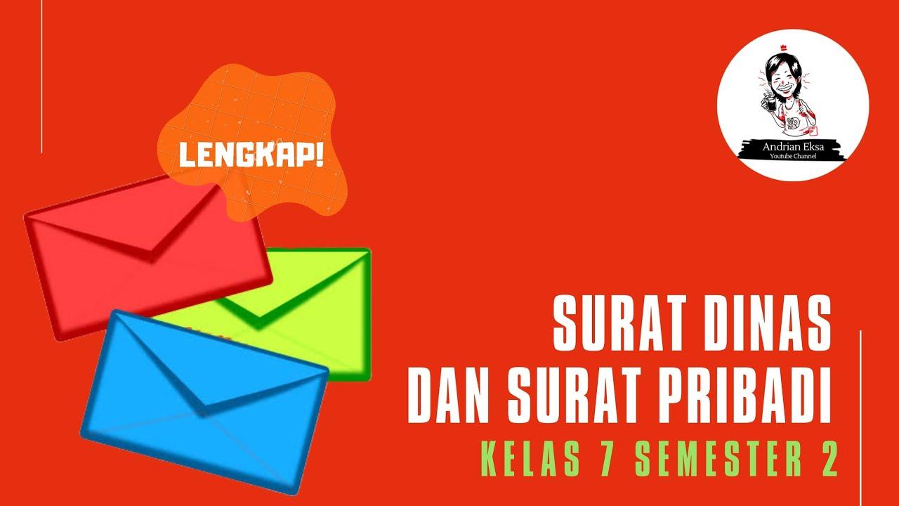 Belajar Daring Bahasa Indonesia Surat Dinas Dan Surat Pribadi Kelas 7 Youtube