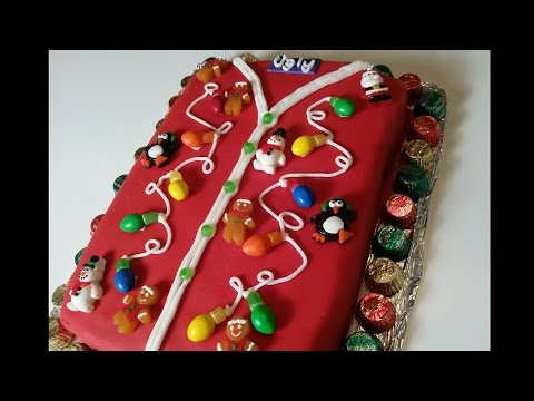 Christmas Sweater Cake