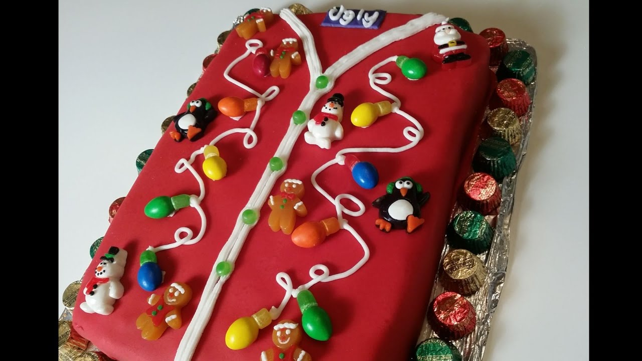 Ugly Christmas Sweater Cake How To Make Youtube
