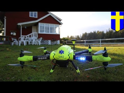 Drone beats ambulance in delivering defibrillators to people suffering heart attacks - TomoNews