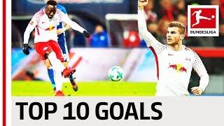 Werner, keita & more - top 10 rb leipzig goals 2017/18