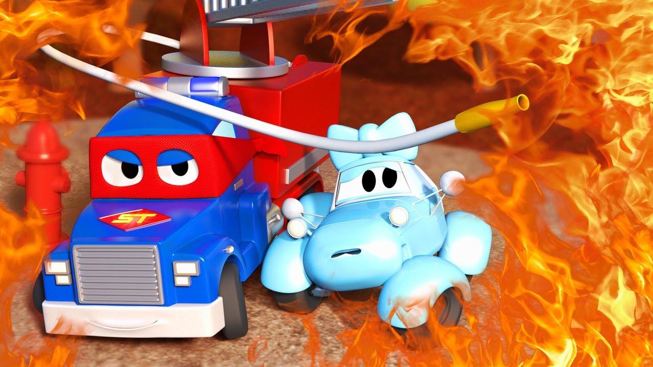 Детские мультики с грузовиками - Супер Пожарная Машина ...