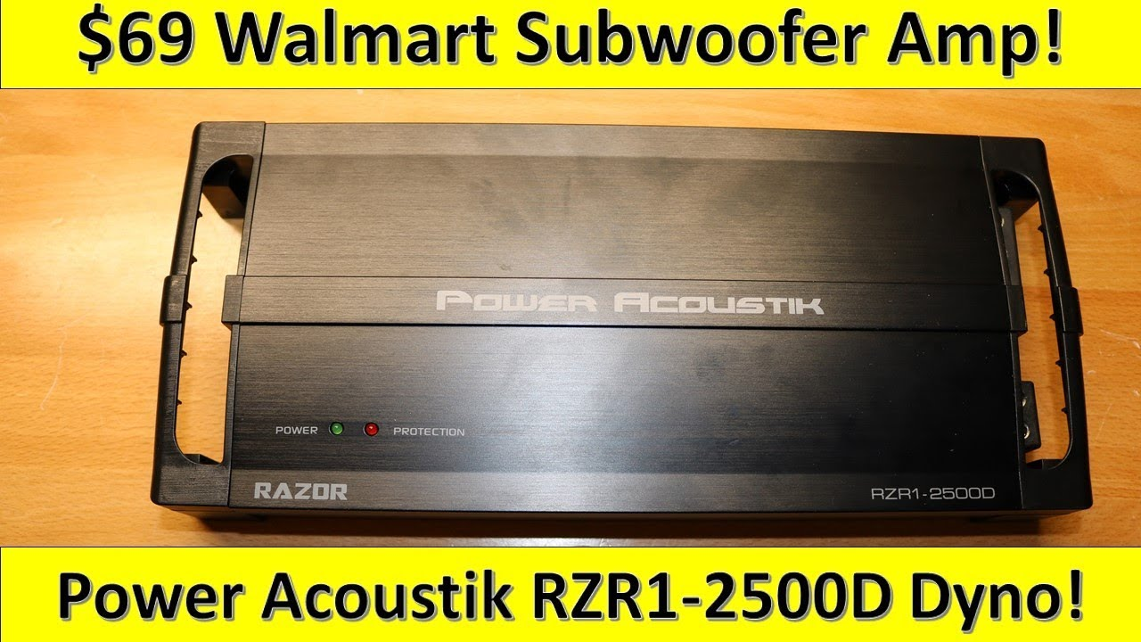 $69 Walmart Subwoofer Amp on the Dyno! Power Acoustik RZR1-2500D Tested