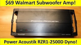 $69 Walmart Subwoofer Amp on the Dyno! Power Acoustik RZR1-2500D Tested