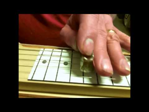 """""""Walking After Midnight"""" Practice on the Open """"E"""" Lapsteel"""
