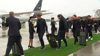 DFB Team ist von Frankfurt Richtung WM aufgebrochen