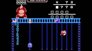 NES Game: Donkey Kong Junior Math (1983 Nintendo)