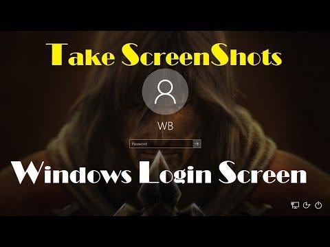 Take Screenshot of Windows 10 Login Screen - How to Take Screenshots Of Windows 10 Login Screen