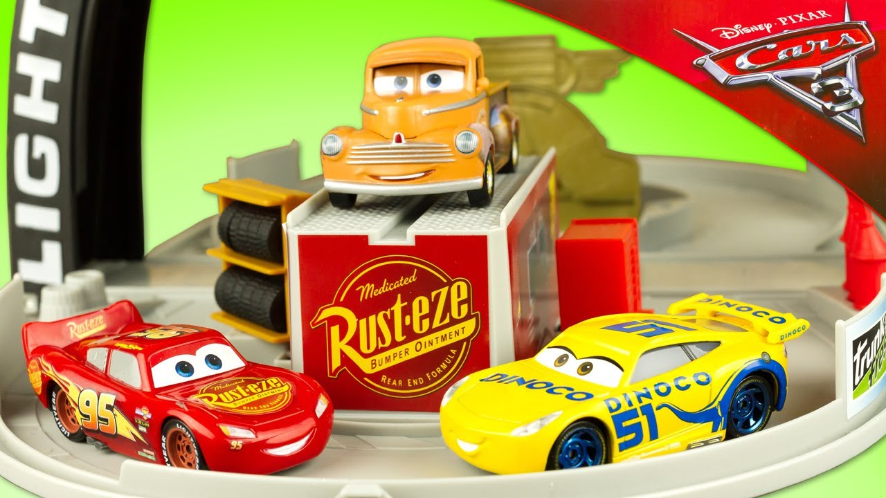 Cars 3 Jackson Storm Jouet Disney Cars 3 Piston Cup Portable Playset Lightning Mcqueen Smokey Jackson Storm Cruz Ramirez Review