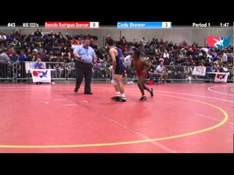 FILAJRFS: 60 KG / 132.25 lbs: Renaldo Rodriguez-Spencer (Buffalo) vs. Cody Brewer (Oklahoma Elite)