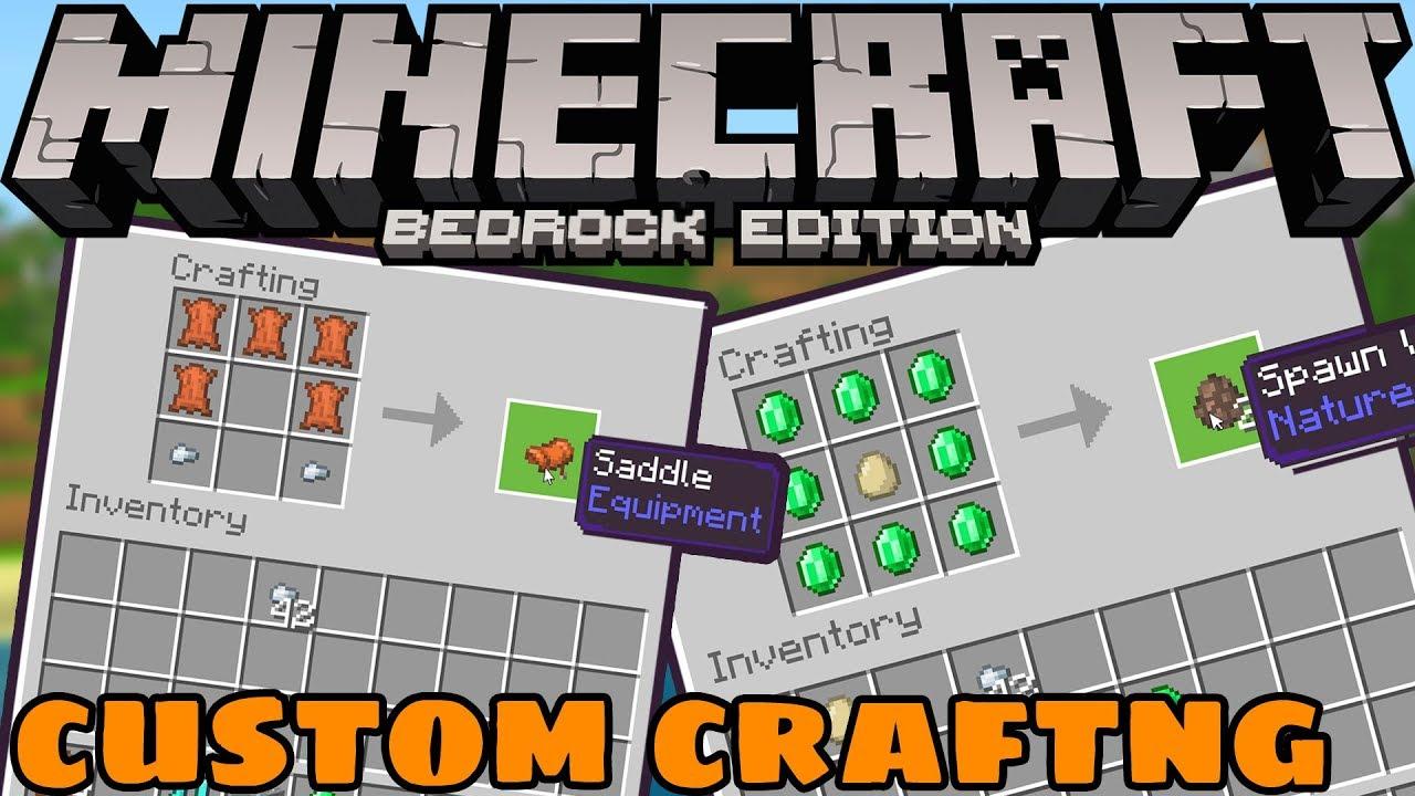 Minecraft 1 12 0 2 Beta How to Make Custom Crafting Recipes
