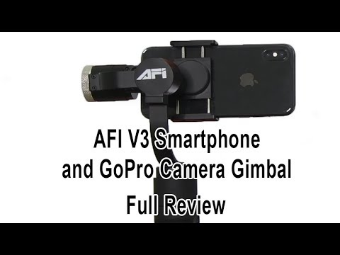 AFI V3 Smartphone Gimbal Full Review and Face Detection Apps