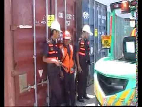 inspection at the port (Indonesian Customs)