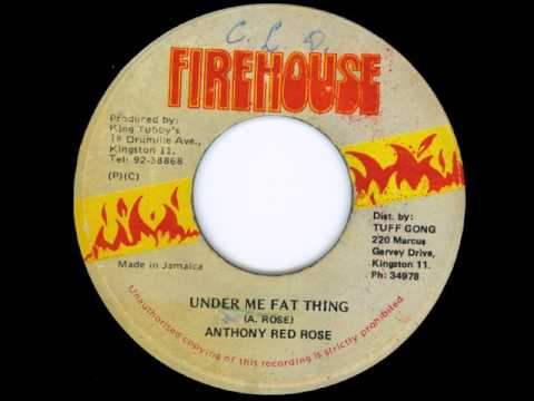 """Anthony Red Rose - Under Me Fat Thing + Dub -7"""" Firehouse 1986 - KiNG TUBBY'S DIGITAL 80'S DANCEHALL"""