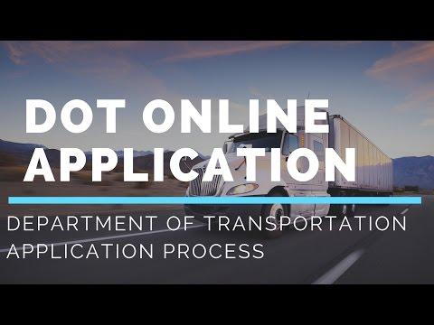 DOT Online Application Process