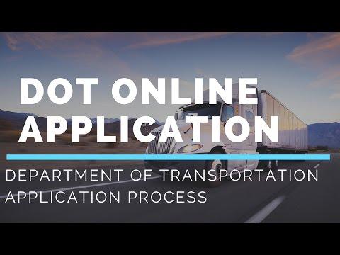DOT Online Application Process