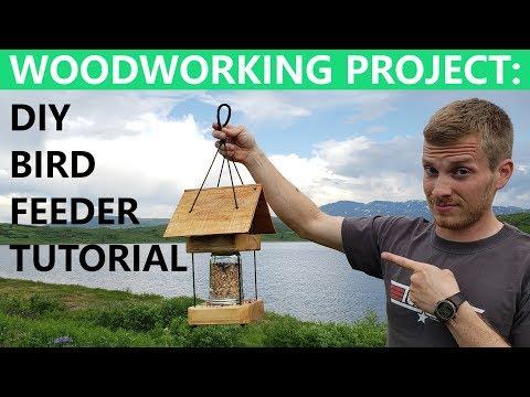 DIY BIRD FEEDER  //  Easy Woodworking Project