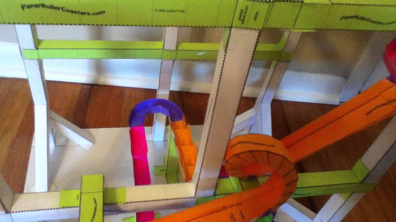 free printable paper roller coaster templates - another paper roller coaster youtube