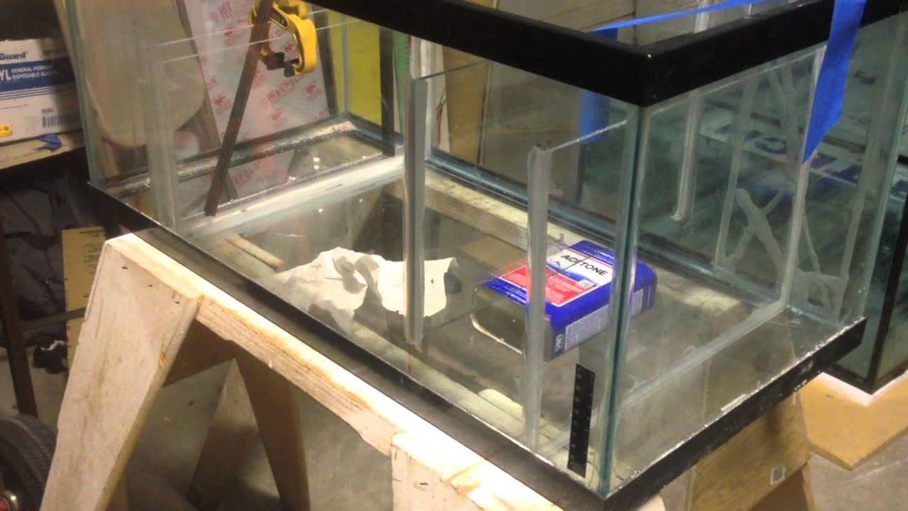 how to diy reef tank sump youtube
