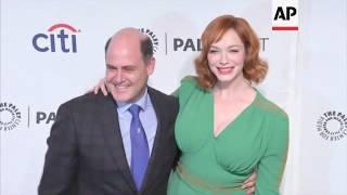Christina Hendricks, Kiernan Shipka celebrate new 'Mad Men' books from showrunner Matthew Weiner
