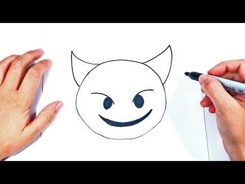How To Draw A Devil Emoji Step By Step | Devil Emoji  Drawing Lesson